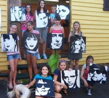 Birthday Art Parties For Kids Aged 10 12 Years Lilly Lee
