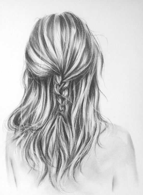 drawing trendy hairstyles in charcoal sept school hols