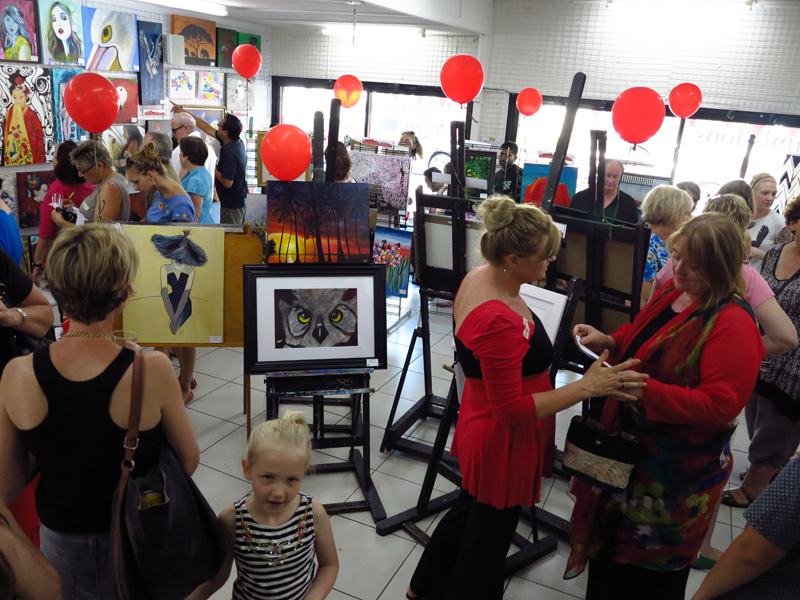 Paint the Town Red Art Exhibition