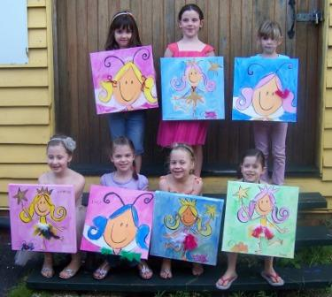 Birthday art parties for kids aged 6 9 years lilly lee for Crafts for girls age 9