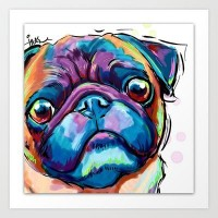 Colourful Pugs on Canvas (July school holiday program)